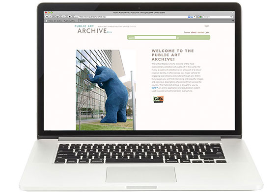 Web Layout Design: PUBLIC ART ARCHIVE